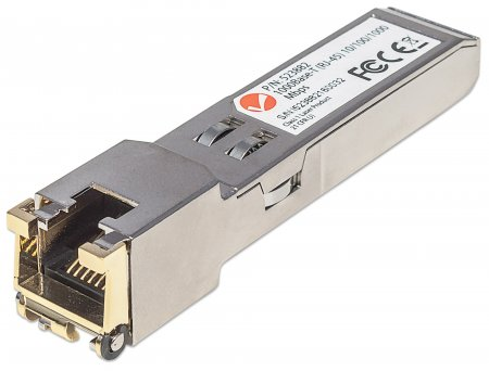 Gigabit SFP Mini-GBIC Transceiver für RJ45-Kabel INTELLINET 1000Base-T (RJ45) Port, 100 m