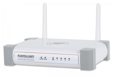Wireless 300N 4-Port Router - Wireless networking with five times the speed., 300 Mbps, MIMO, QoS, 4-Port 10/100 Mbps LAN Switch