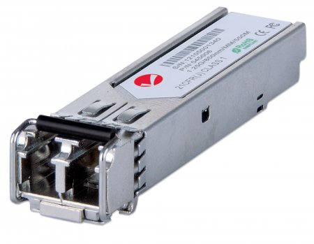 Gigabit SFP Mini-GBIC Transceiver für LWL-Kabel INTELLINET 1000Base-SX (LC) Multimode-Port, 550 m