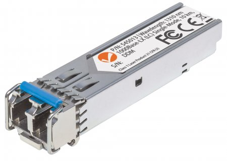 Gigabit SFP Mini-GBIC Transceiver für LWL-Kabel INTELLINET 1000Base-LX (LC) Singlemode-Port, 10 km