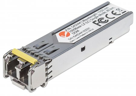 Gigabit SFP Mini-GBIC Transceiver für LWL-Kabel INTELLINET 1000Base-LX (LC) Singlemode-Port, 80 km