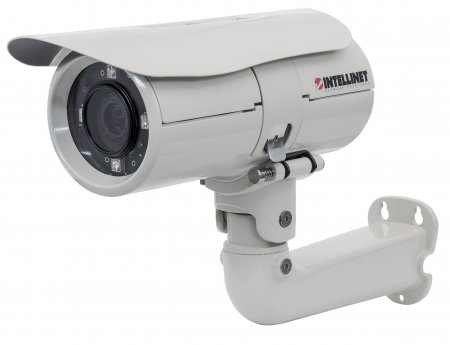 IBC-667IR Outdoor Night Vision 2 Megapixel HD Network Bullet Camera - Extreme Outdoor Megapixel Surveillance Camera with PoE, H.264, MPEG4, Audio and Night-Vision!, 1080p HD, WDR, Day/Night, IP66, H.264, MPEG4, M-JPEG, 3GPP, PoE, MicroSD/SDHC