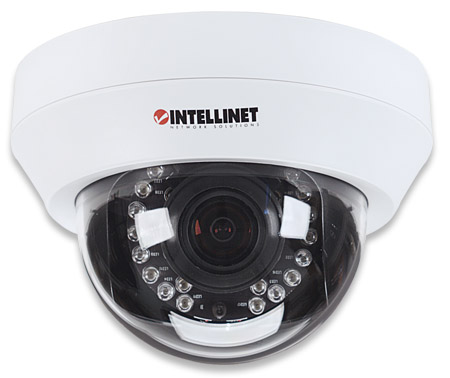 NFD130-IR Megapixel Night-Vision Network Dome Camera - , 1.3 Megapixel CMOS, 720p HD, Day/Night, H.264, MPEG4, M-JPEG, 3GPP, PoE, MicroSD/SDHC