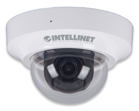 IDC-862 HD 2 Megapixel Network Mini-Dome Camera - One of the world's smallest network dome cameras provides stunning high definition H.264 video!, 1080p HD, PoE, WDR, H.264, MPEG4, M-JPEG, 3GPP, MicroSD