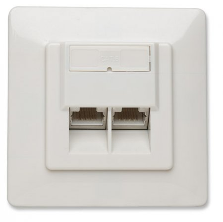 Intellinet Network Solutions - Cat6 Wall Plate (560207)
