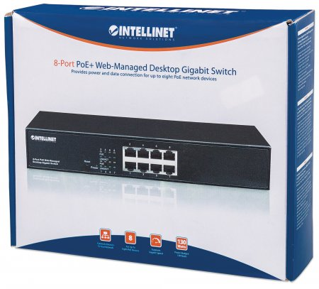 8-Port Gigabit Ethernet PoE+ Web-Managed Switch