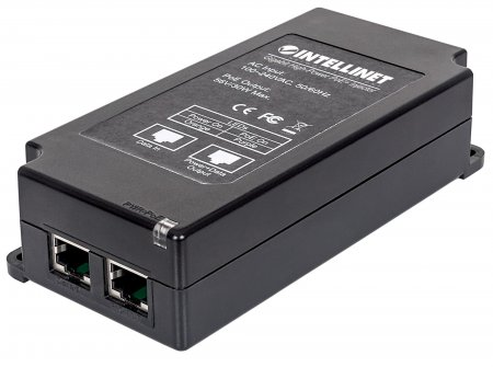 Gigabit High-Power PoE+ Injector - , 1 x 30 W Port, IEEE 802.3at/af Compliant, Plastic Housing