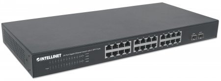 24-Port Gigabit Ethernet Switch with 2 SFP Ports