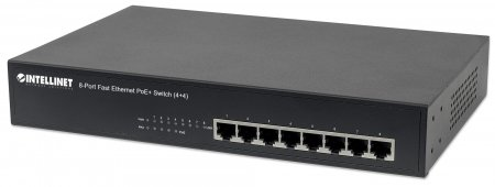 "8-Port Fast Ethernet PoE+ Switch - High-Power Fast Ethernet Switch for Use with PoE/PoE+ Network Devices, 4 x PoE IEEE 802.3at/af Power-over-Ethernet (PoE+/PoE) ports, 4 x Standard RJ45 Ports, Endspan, Desktop, 19"" Rackmount"