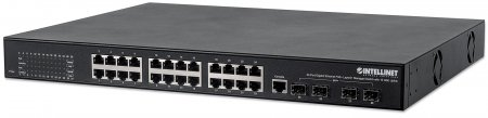"24-Port Gigabit Ethernet PoE+ Layer2+ Managed Switch with 10 GbE Uplink - Powers up to 24 PoE devices at Gigabit Speeds!, 24 x PoE ports, IEEE 802.3at Power over Ethernet (PoE+), Layer 2+, 4 x 10 GbE SFP+ open slots, Endspan, 19"" Rackmount"