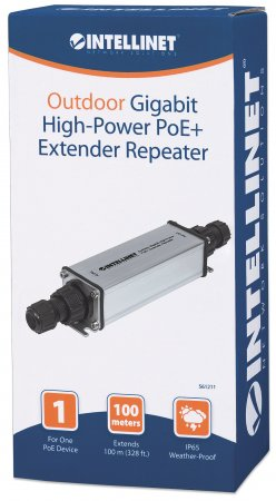 Outdoor Gigabit High-Power PoE+ Extender Repeater