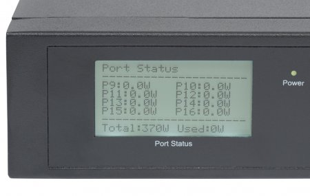 16-Port Gigabit Ethernet PoE+ Switch with 2 SFP Ports and LCD Screen