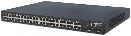 48-Port Gigabit Ethernet Web-Managed Switch mit 4 SFP-Ports INTELLINET 48 x 10/100/1000 Mbit/s RJ45 Ports + 4 x SFP, IEEE 802.3az Energy Efficient Ethernet, SNMP, QoS, VLAN, ACL, 19