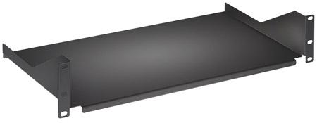 19'' Fachboden zur Frontmontage INTELLINET 2 HE, Montage an den beiden vorderen Profilschienen, Fachbodentiefe 400 mm, schwarz