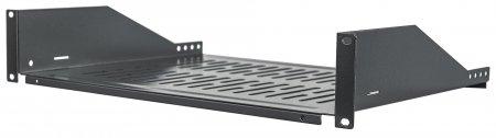 19'' Fachboden zur Frontmontage INTELLINET 2 HE, Fachbodentiefe 350 mm, schwarz
