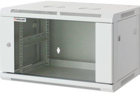 19'' Wandverteiler INTELLINET 6 HE, 370 (H) x 600 (B) x 450 (T) mm, vollständig montiert, grau