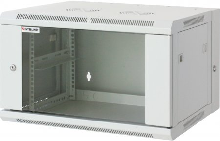 "19"" Double Section Wallmount Cabinet - , 9U, Double Section, Assembled, Gray"