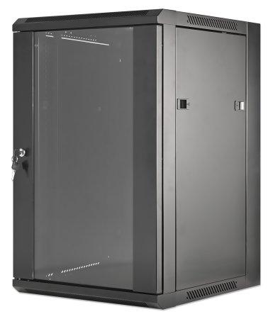"19"" Wallmount Cabinet - , 15U, Flatpack, Black"