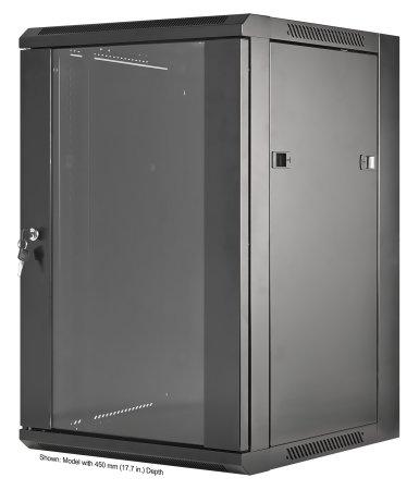19'' Wandverteiler INTELLINET 15 HE, 770 (H) x 570 (B) x 600 (T) mm, Flatpack, schwarz