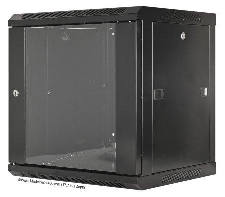 19'' Wandverteiler INTELLINET 9 HE, 500 (H) x 600 (B) x 600 (T) mm, vollständig montiert, schwarz
