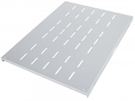 Fachboden zur Festmontage INTELLINET 1 HE, 800 mm Tiefe, besonders hohe Traglast, grau