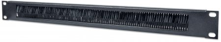 "19"" Cable Entry Panel - , 1U, with Brush Insert, Black"
