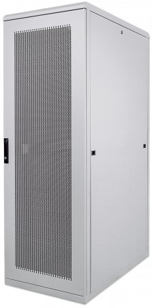 "19"" Server Cabinet - , 42U,  IP20-rated housing, Flatpack, Gray"