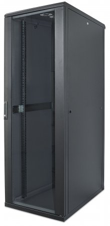 19'' Netzwerkschrank INTELLINET 42 HE, 2033 (H) x 600 (B) x 800 (T) mm, Schutzklasse IP20, vollständig montiert, schwarz
