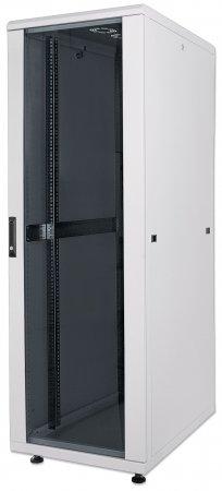 19'' Netzwerkschrank INTELLINET 42 HE, 2033 (H) x 600 (B) x 600 (T) mm, Schutzklasse IP20, vollständig montiert, grau