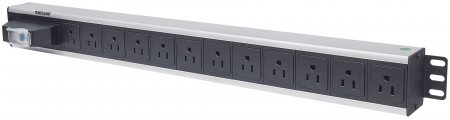 Vertical Rackmount 12-Way Power Strip - US Type