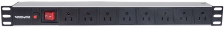 "19"" 1U Rackmount 8-Way Power Strip - US Type"
