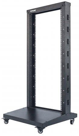 "19"" 2 Post Open Frame Rack - , 48U, Flatpacked, Black"