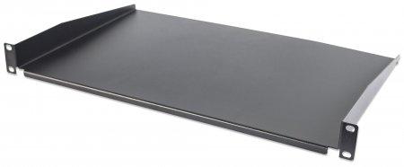 """19"""" Cantilever Shelf - , 1U, 350 mm (13.8 in.) Shelf Depth, Non-Vented, Black"""