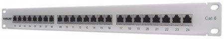 24-Port Cat6 Patchpanel, geschirmt INTELLINET FTP, 1 HE, Klemmleisten - 720014