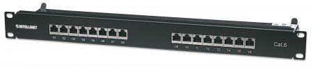 16-Port Cat6 Patchpanel, geschirmt INTELLINET FTP, 19'', 1 HE, mit 90 - 720021