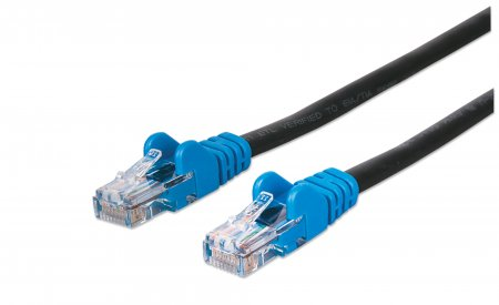 Network Cable, Cat5e, UTP - , RJ45 Male / RJ45 Male, 3.0 m (10 ft.), Black w/ Blue Boot