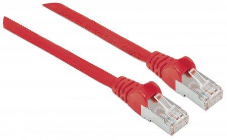 Premium Netzwerkkabel, Cat6, S/FTP INTELLINET 100% Kupfer, Cat6-zertifiziert, LS0H, RJ45-Stecker/RJ45-Stecker, 15 m, rot