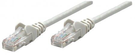Premium Netzwerkkabel, Cat5e, U/UTP INTELLINET 100% Kupfer, Cat5e-zertifiziert, RJ45-Stecker/RJ45-Stecker, 0,5 m, grau
