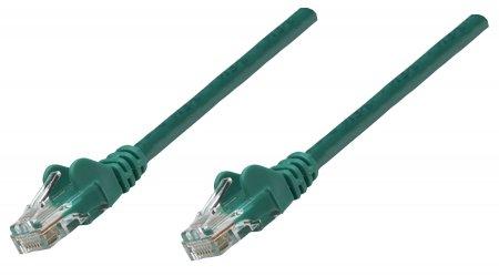 Premium Netzwerkkabel, Cat5e, U/UTP INTELLINET 100% Kupfer, Cat5e-zertifiziert, RJ45-Stecker/RJ45-Stecker, 1,0 m, grün