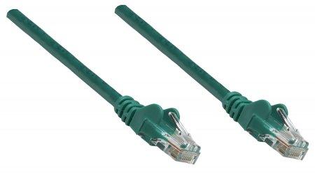 Premium Netzwerkkabel, Cat5e, U/UTP INTELLINET 100% Kupfer, Cat5e-zertifiziert, RJ45-Stecker/RJ45-Stecker, 30,0 m, grün