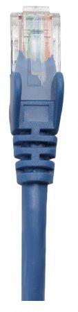 Premium Netzwerkkabel, Cat5e, U/UTP INTELLINET 100% Kupfer, Cat5e-zertifiziert, RJ45-Stecker/RJ45-Stecker, 0,25 m, blau