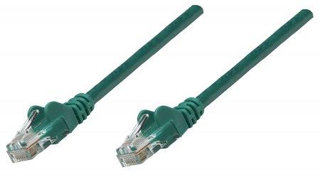 Premium Netzwerkkabel, Cat6, U/UTP INTELLINET 100% Kupfer, Cat6-zertifiziert, RJ45-Stecker/RJ45-Stecker, 1,0 m, grün
