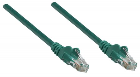 Premium Netzwerkkabel, Cat6, U/UTP INTELLINET 100% Kupfer, Cat6-zertifiziert, RJ45-Stecker/RJ45-Stecker, 15,0 m, grün