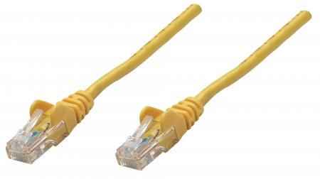 Premium Netzwerkkabel, Cat6, U/UTP INTELLINET 100% Kupfer, Cat6-zertifiziert, RJ45-Stecker/RJ45-Stecker, 0,25 m, gelb