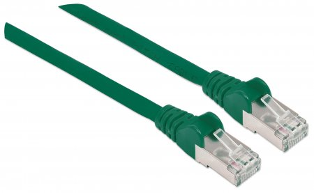 Netzwerkkabel mit Cat7-Rohkabel, S/FTP INTELLINET Cat6a-Stecker, 100% Kupfer, LS0H, 0,25 m, grün
