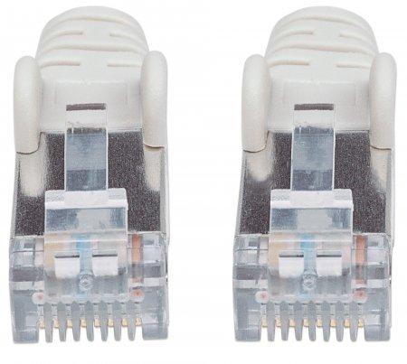Netzwerkkabel mit Cat7-Rohkabel, S/FTP INTELLINET Cat6a-Stecker, 100% Kupfer, LS0H, 0,5 m, grau