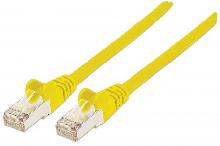 Netzwerkkabel mit Cat7-Rohkabel, S/FTP INTELLINET Cat6a-Stecker, 100% Kupfer, LS0H, 0,5 m, gelb