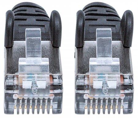 Netzwerkkabel mit Cat6a-Stecker und Cat7-Rohkabel, S/FTP INTELLINET 100% Kupfer, LS0H, 3 m, schwarz