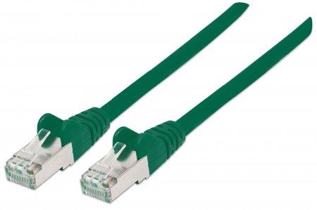 Netzwerkkabel mit Cat6a-Stecker und Cat7-Rohkabel, S/FTP INTELLINET 100% Kupfer, LS0H, 7,5 m, grün