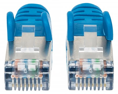 Cat6a S/FTP Patch Cable, 14 ft., Blue